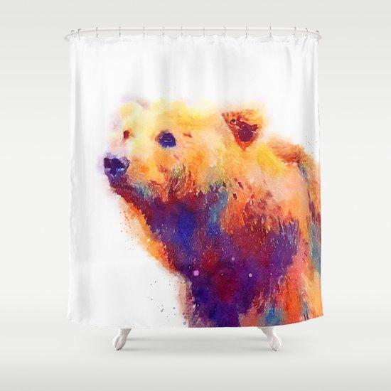The Protective - Bear Shower Curtain