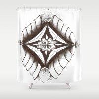 dream catcher Shower Curtains featuring Dream catcher by Ckeeling
