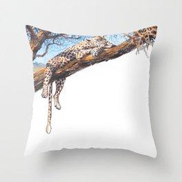 cool cheetah Throw Pillow