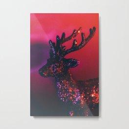 Glittering deer Metal Print