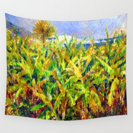 Renoir Field of Banana Trees Wall Tapestry