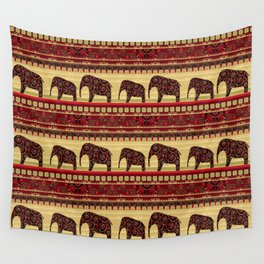"African ornament . ""Elephants"" . Wall Tapestry"