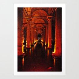 Istanbul Cistern  Art Print