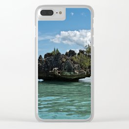 Crystal Rock, Mauritius Clear iPhone Case