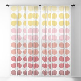 Floral Geometry Pattern Sheer Curtain