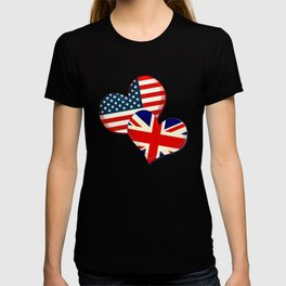 USA and UK hearts T-shirt