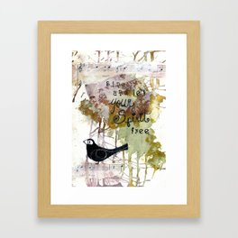 Sing and Be Free Framed Art Print