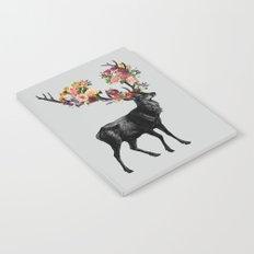 Spring Itself Deer Floral Notebook