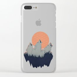 Howling Moon Clear iPhone Case