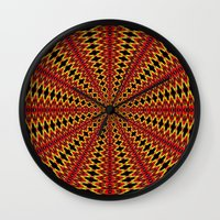spanish Wall Clocks featuring Spanish sun by Bubblemaker