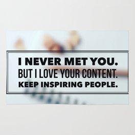 Keep Inspiring People Rug