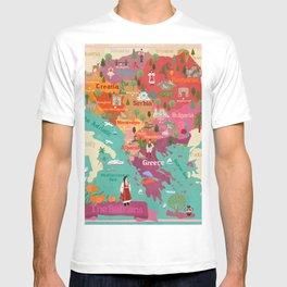 The Balkans-map T-shirt
