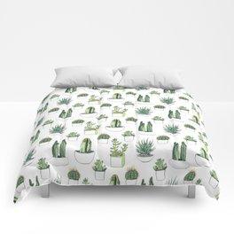 Watercolour Cacti & Succulents Comforters