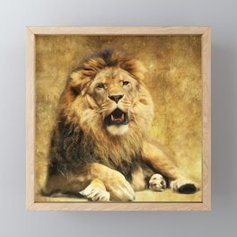 The King Framed Mini Art Print