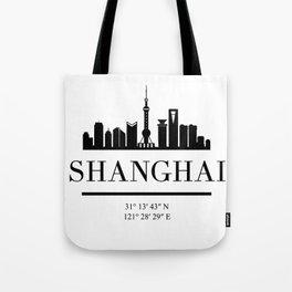 SHANGHAI CHINA BLACK SILHOUETTE SKYLINE ART Tote Bag
