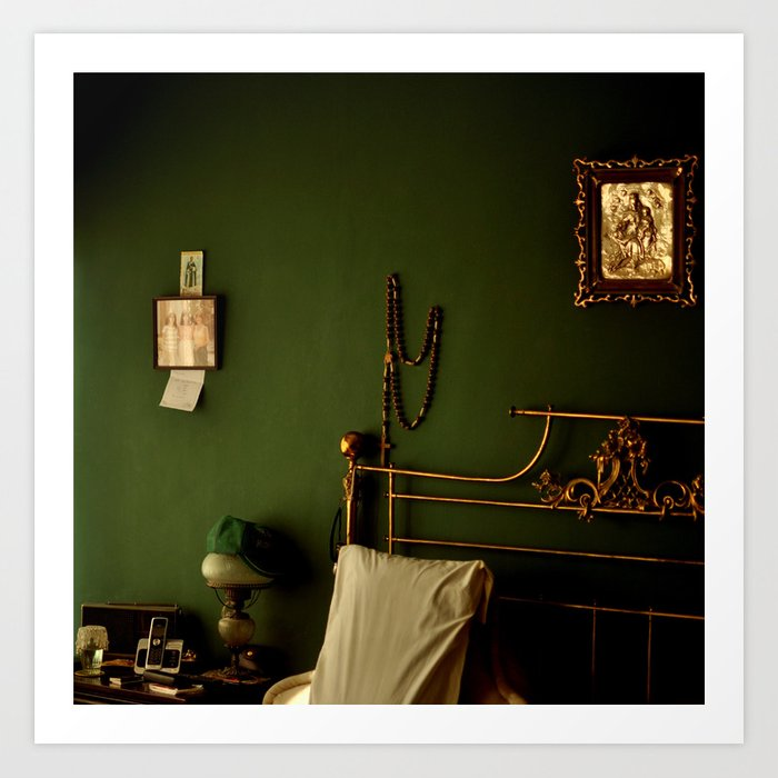 Green And Gold Bedroom Art Print By Valeriah Society6