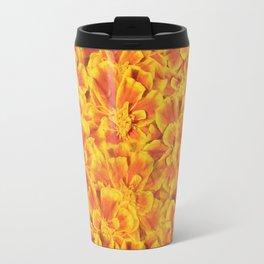 Orange Blooms Travel Mug
