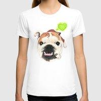 english bulldog T-shirts featuring English Bulldog - F.I.P. - @LucyFarted by PaperTigress