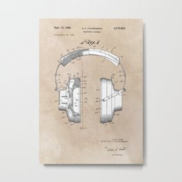 patent art Falkenberg Headphone assembly 1966 Metal Print
