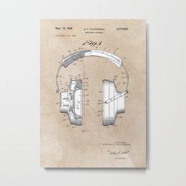 patent art Falkenberg Headphone assembly 1966 Metal Print