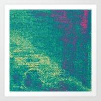21-74-16 (Aquatic Glitch) Art Print