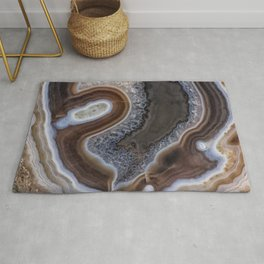 """Agate crystal texture #2 """"more detail"""" Rug"""