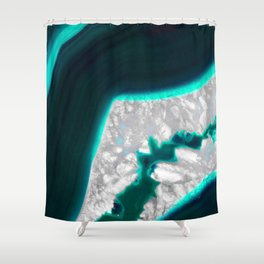 Fluo Agate Shower Curtain