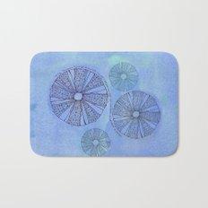 Blue Sea Urchin Bath Mat