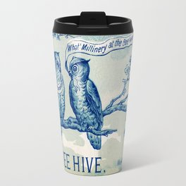 Vintage owl talk Travel Mug