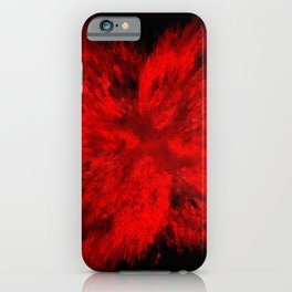 Fire Behind Glass (Red series #11) iPhone Case
