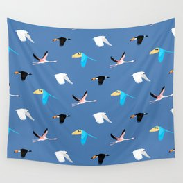 Tropical birds Wall Tapestry