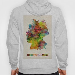 Germany Watercolor Map (Deutschland) Hoody