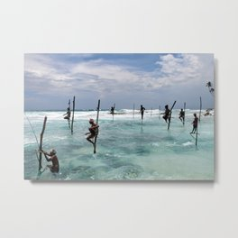 Fishermen in Sri Lanka Metal Print