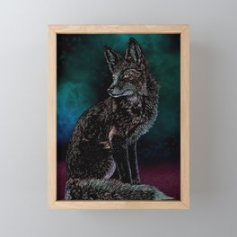 Galaxy Fox Framed Mini Art Print