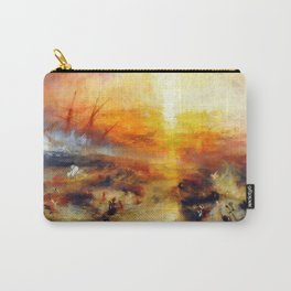 """J. M. W. Turner """"Slavers Throwing overboard the Dead and Dying, Typhon coming on - The slave ship"""" Carry-All Pouch"""