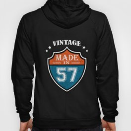 Vintage Made In 57 1957 Birthday Gift Hoody