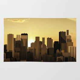 Sunrise-sunset city panorama Rug
