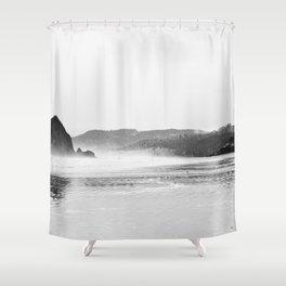 Haystack Rock B&W Shower Curtain