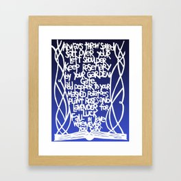 Practical Advice from Practical Magic in Twilight Framed Art Print