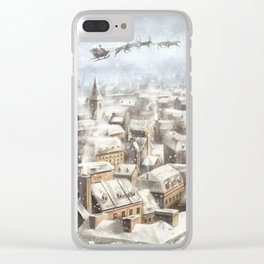 Christmas in Paris Clear iPhone Case