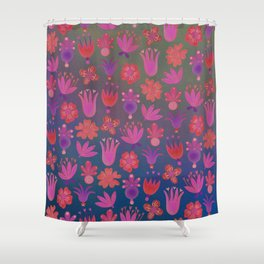 Moon-flowers - Full Moon Shower Curtain