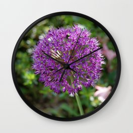 Purple Wish Wall Clock