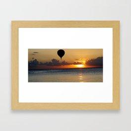Balloon Sunset #1 Framed Art Print