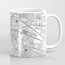 Vintage Map of Rochester NY (1901) BW Coffee Mug