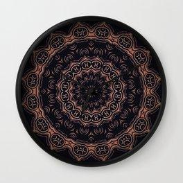 Obsidian // Witchy Bohemian Gypsy Dark Visionary Mandala Witch Circle Tarot Spell Magical Symbols Wall Clock