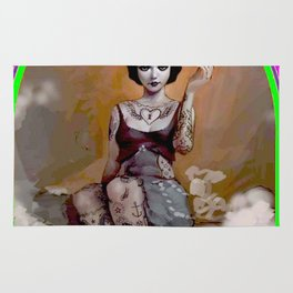 The Amazing Tattooed Lady Advertising Poster Print Rug