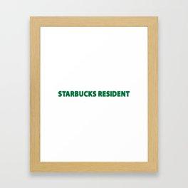 starbucks resident Framed Art Print