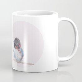 Hummingbird on pink background Coffee Mug