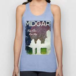 Final Fantasy VII - Midgar Tribute Poster *Distressed* Unisex Tank Top