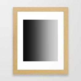Black to Gray Vertical Linear Gradient Framed Art Print